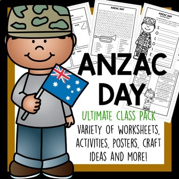 Anzac Day Activity Poster And Craft Pack By Laughing Kids Learn