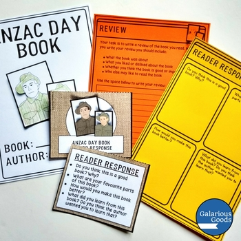 ANZAC Day Book Study for any ANZAC Day Book - Year 2, 3 and 4