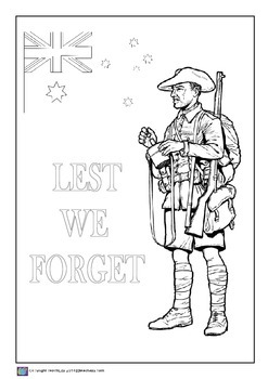 ANZAC Day Colouring In