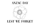 ANZAC Day Colouring in Sheets