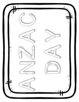 ANZAC Day Cover Page/Colouring Pages