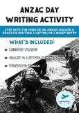 ANZAC Day   FREE Writing Activity