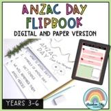 ANZAC Day Flipbook - ANZAC activities Grade 3 - 6 Australi
