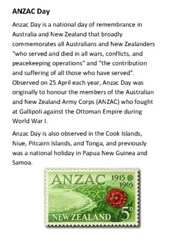 ANZAC Day Handout