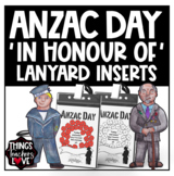 ANZAC Day 'Today I'm Marching In Honour of...' Lanyard Inserts, Poppies, Poppy