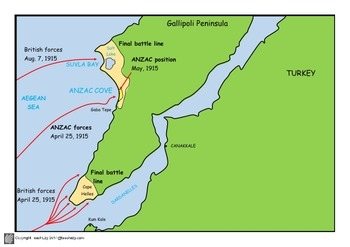 ANZAC Day Maps PDF and now PowerPoint Combined