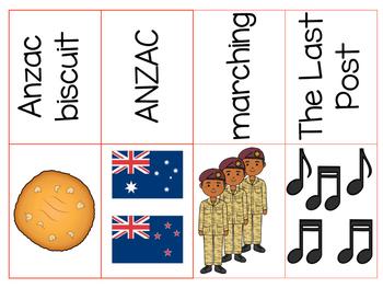 ANZAC Day Matching Activity