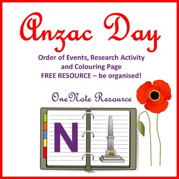ANZAC Day Order of Events OneNote
