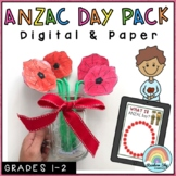 ANZAC Day Activities - Distance Learning (Year 1, Year 2)