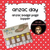 ANZAC Day Page Topper