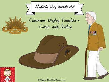 ANZAC Day Slouch Hat Display Template