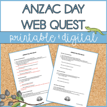 ANZAC Day Web Quest