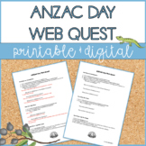 ANZAC Day | Web Quest | Distance Learning