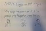 ANZAC Day Writing Task