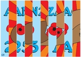 ANZAC Day agamograph. Colour and black and white versions