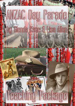 English Teaching Package for 'ANZAC Day Parade' by Glenda Kane