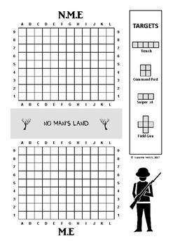 ANZAC Day – 'Battleshots' Game