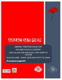 ANZAC DAY POEM ORIGINAL AND POPPY TO MAKE