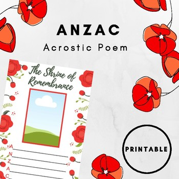 ANZAC Poem Template