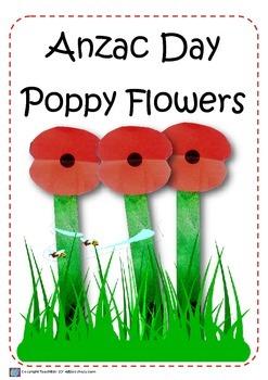 ANZAC Quick Poppy Flower Craft