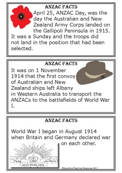 ANZAC / Remembrance Day Writing Centre