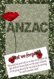 ANZAC - Teacher and Student resource