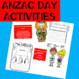 ANZAC day Powerpoint and activities