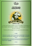 ANZACS Wordsearch and Quiz