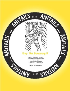 ANiTAiLS: Emy the Bananaquit Story, Crossword, Coloring page and more