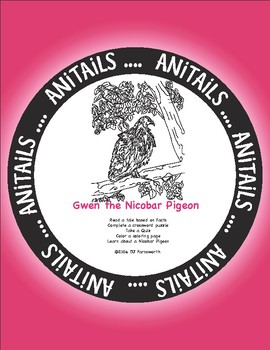 ANiTAiLS: Gwen the Nicobar Pigeon Story, Crossword, Coloring page and more