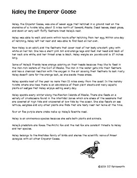 ANiTAiLS: Haley the Emperor Goose Story, Crossword, Coloring page and more