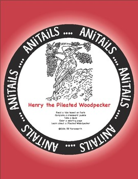 ANiTAiLS: Henry the Pileated Woodpecker Story, Crossword, Coloring Page, & more