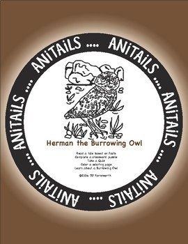 ANiTAiLS: Herman the Burrowing Owl Story, Crossword, Coloring page, and more