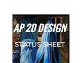 AP 2D Design Concentration Status Sheet