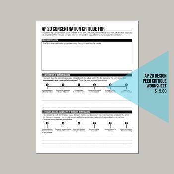 AP 2D Studio Art Design Concentration Peer Review