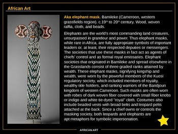 AP ART HISTORY: Section 6 (Africa)