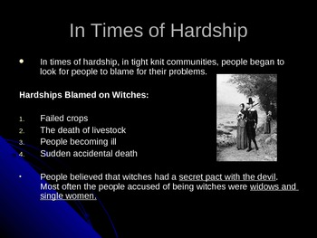 American History Salem Witch Trials Power Point Presentation