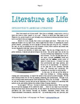 AP - American Literature Unit