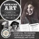 AP Art, Advanced Drawing, or 2D Design Art Lesson: Charcoal Self Portraits