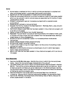 AP Art History Unit 10 (Early Medieval Art) Study Guide