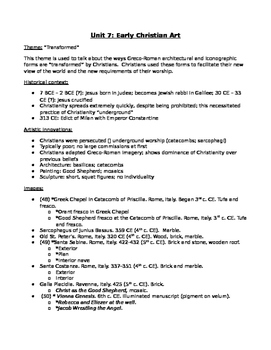 AP Art History Unit 7 (Early Christian Art) Study Guide