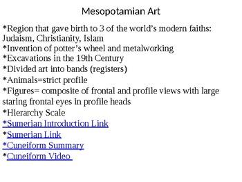 AP Art History Content 2- Ancient Mediterranean Art (3500-300 B.C.E)