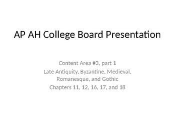 AP Art History Content 3, part 1- Antiquity through Gothic