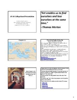 AP Art History Content 3, part 1- Antiquity through Gothic Notes