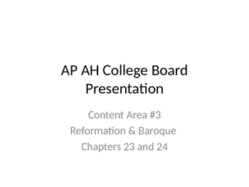 AP Art History Content 3, part 3- Reformation & Baroque Art