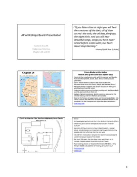 AP Art History Content 5- Indigenous Americas Art NOTES