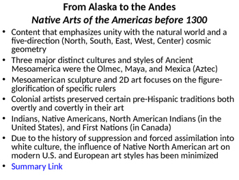 AP Art History Content 5- Indigenous Americas Powerpoint