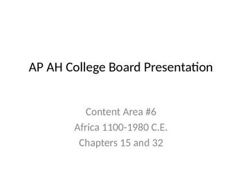 AP Art History Content 6- African Art (1100-1980 C.E)