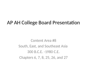 AP Art History Content 8- South, East, and Southeast Asian Art