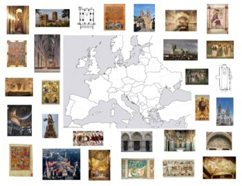 AP Art History Early Europe & Colonial America Map - 1